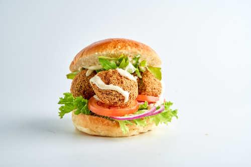 Rocky Balboa-Falafel Burger