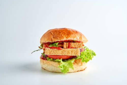 Hangover- Fried Tofu Burger