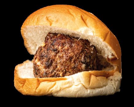 Brood Gehaktbal met satésaus