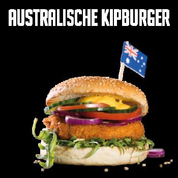 Australische Kipburger Menu