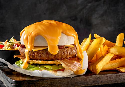 Oranje burger menu