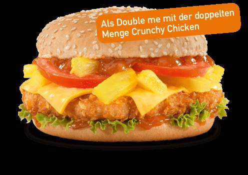 Crispy Caribbean Burger Double me