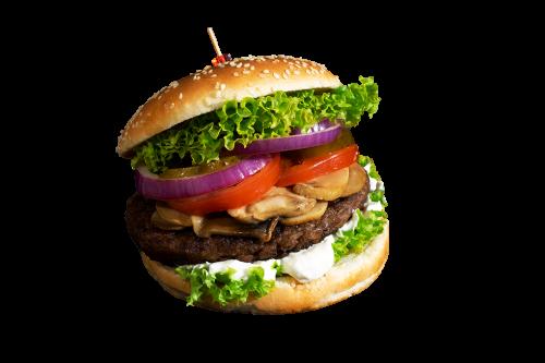 Mushroom Burger Menü