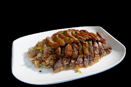 Reisgericht mit Ente