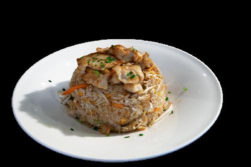 Reisgericht mit Huhn