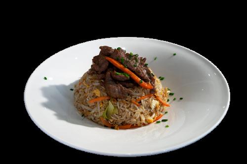 Reisgericht mit Rind