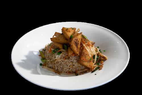 Reisgericht mit Tofu