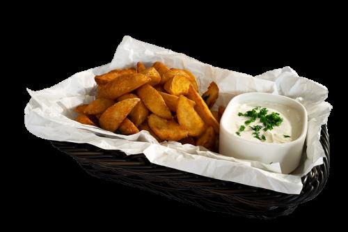 Potato Wedges  mit Sour Cream