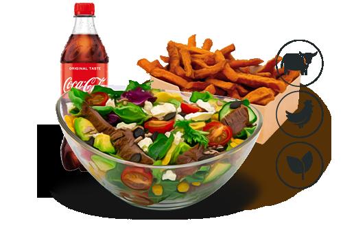 Better Beef Salat mit Classic Pommes