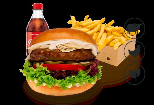 Caesars Burger mit Classic Pommes