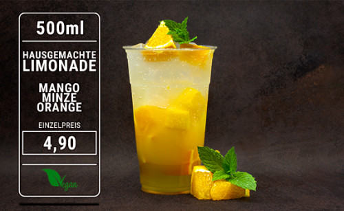 Limonade Mango Minze Orange