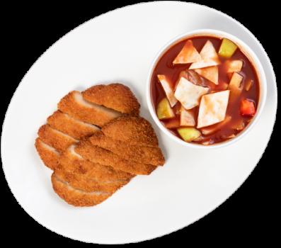 Crispy Huhn Süß-sauer-Soße