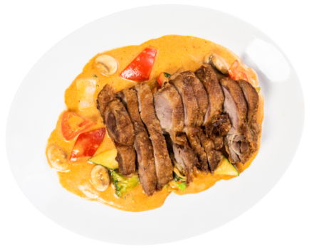 Crispy Ente Red-Curry