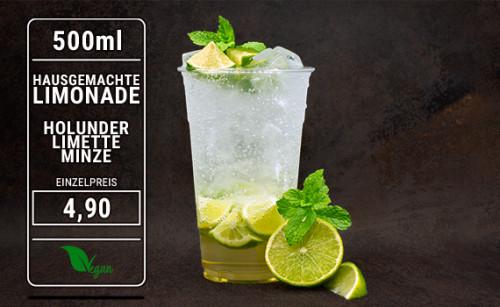 Limonade Holunder Limette Minze