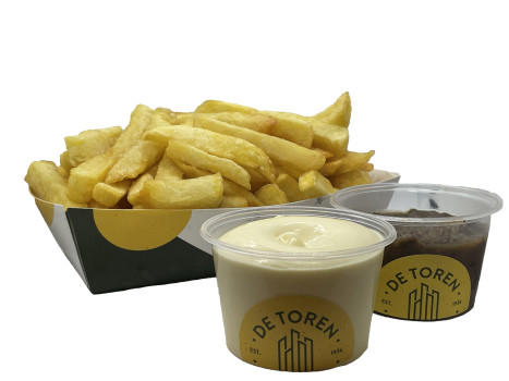Grote friet stoof mayonaise