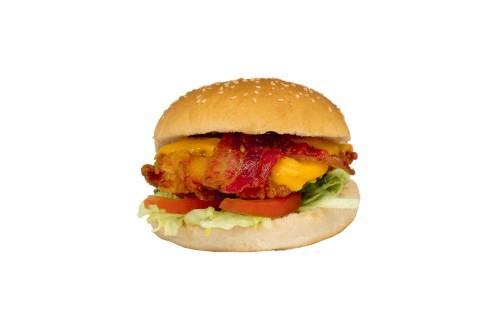 Broodje kipburger met bacon