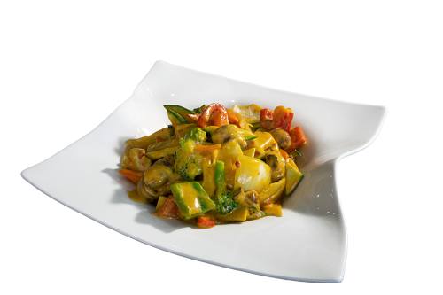 Curry mit Hummerkrabben