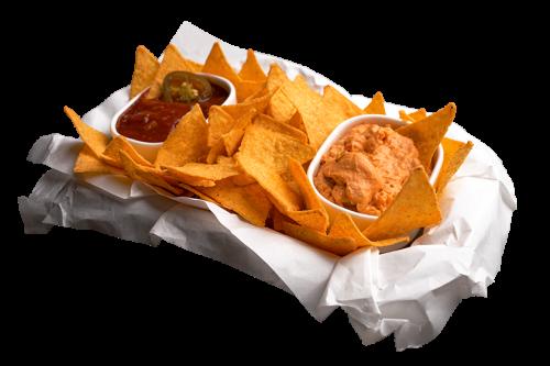 Nachos mit Salsa-Dip