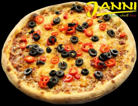 8g. GLUTENFREI Pizza Pizzamore (scharf) 30cm