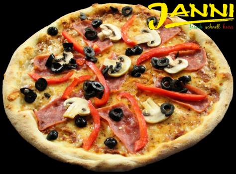 11hg. GLUTENFREI Pizza Quattro Stagioni 30cm (Hinterschinken)