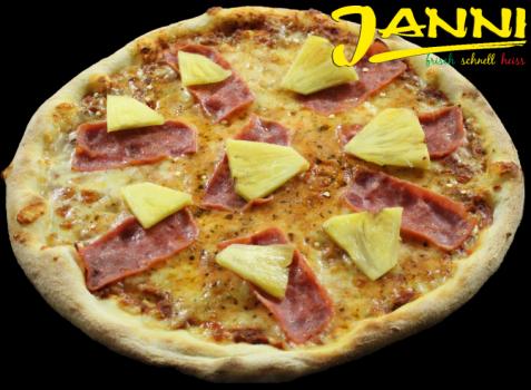 19g. GLUTENFREI Pizza Hawaii 30cm (Hinterschinken)
