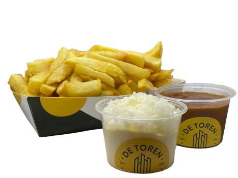 Grote friet sate mayonaise en ui
