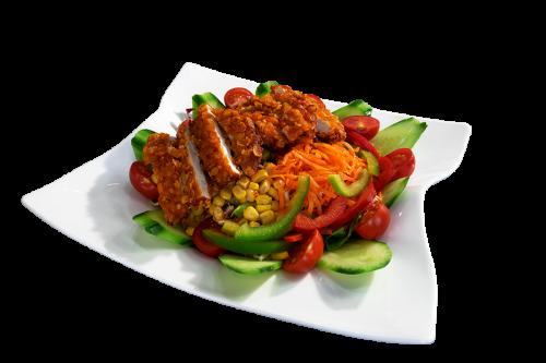 Crunchy Chicken Salat Blech