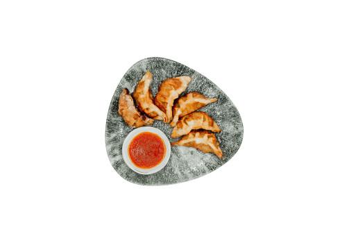 Teigtaschen mit Hühnerfleisch