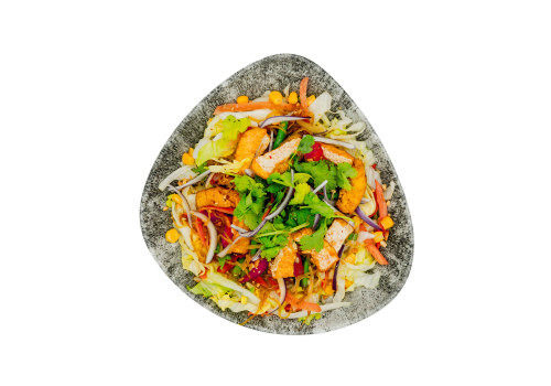 Salat-Bowl mit Tofu