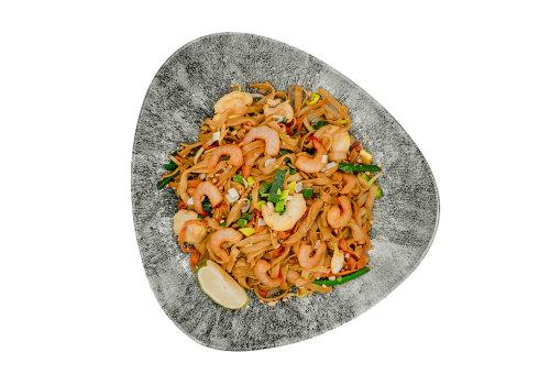 Pad Thai mit Huhn & Shrimps