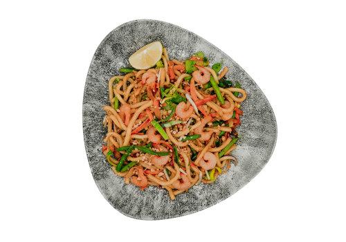 Udon mit Shrimps