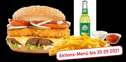 Crunchy & Cheese Burger-Menü