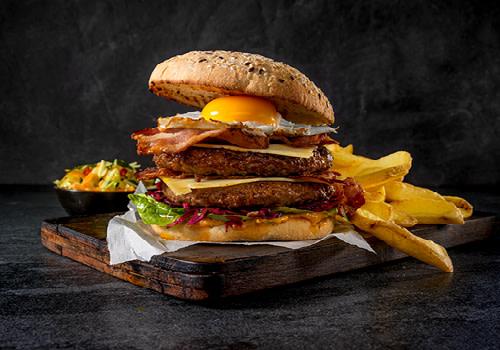 Double cheese burger menu