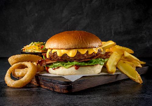 Sweet bbq burger menu