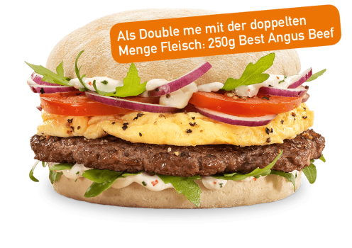 Angus & Egg Burger Double me