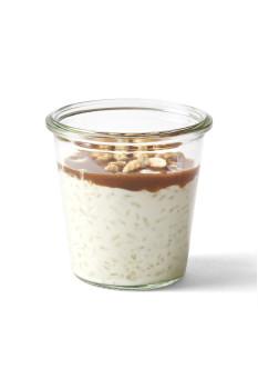 vegan milchreis mit mandelkaramel