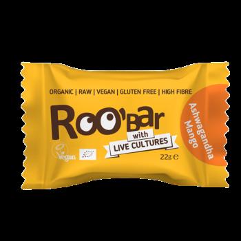 Roobar Ashwagandha & Mango Energie-Kugel mit Lebendkulturen Vegan 22g