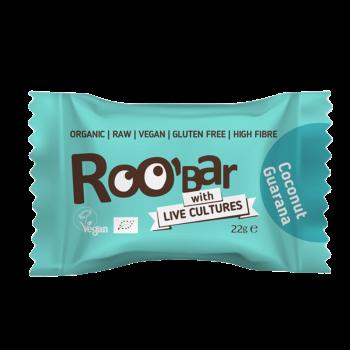 Roobar Kokos & Guarana Energie-Kugel mit Lebendkulturen Vegan 22g
