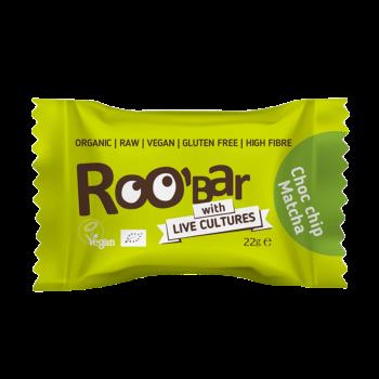 Roobar Choc Chip & Matcha Energie-Kugel mit Lebendkulturen Vegan 22g