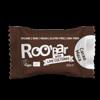 Roobar Kakao & Maca Energie-Kugel mit Lebendkulturen Vegan 22g