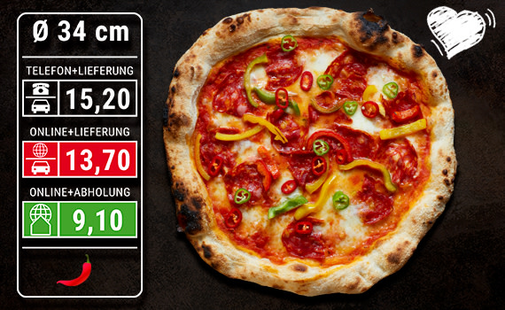 Pizza Diavolo Ø 34cm