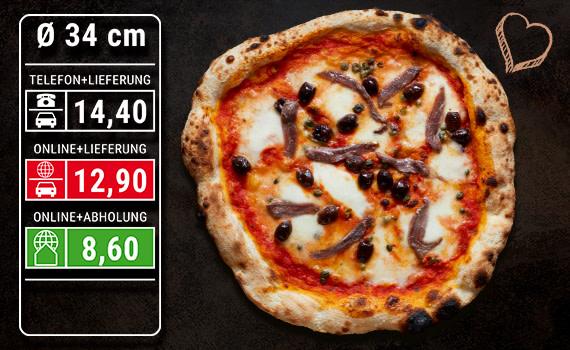 Pizza Napoli Ø 34cm