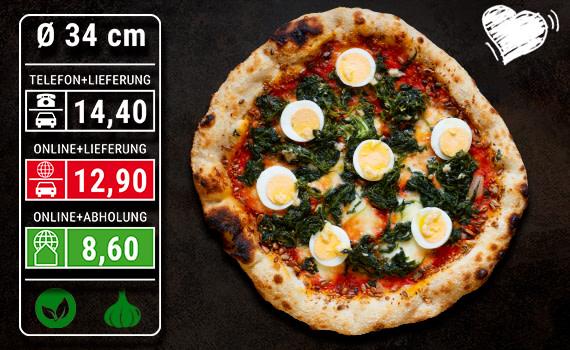 Pizza Spinaci Ø 34cm