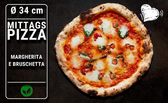 Lunch Pizza Margherita e Bruschetta Ø 34cm