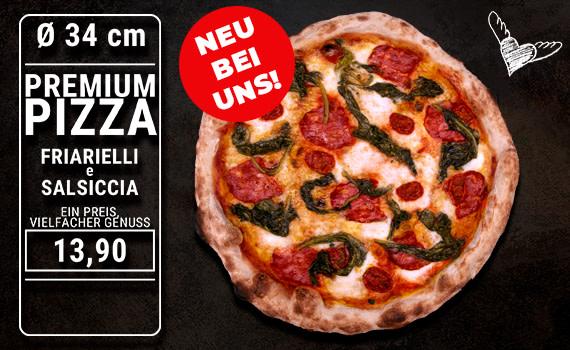 Pizza Friarielli e Salsiccia Ø 34cm