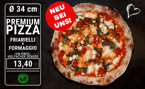 Pizza Friarielli e Formaggio Ø 34cm