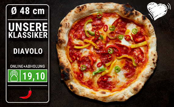 Pizza Diavolo Ø 48cm
