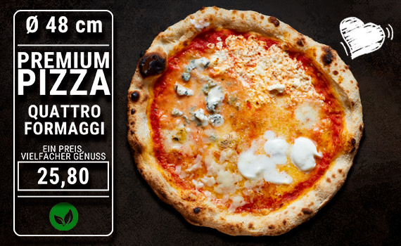 Pizza Quattro Formaggi Ø 48cm