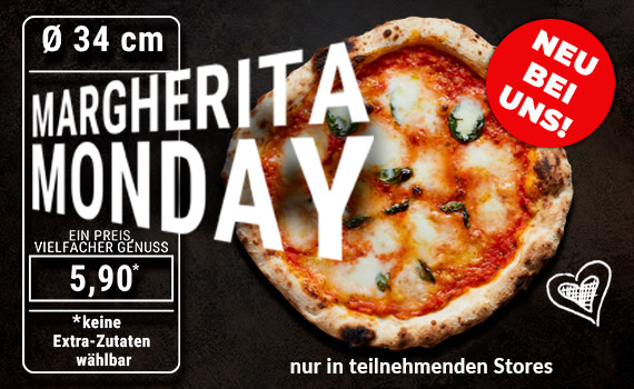 Pizza MARGHERITA MONDAY Ø 34cm