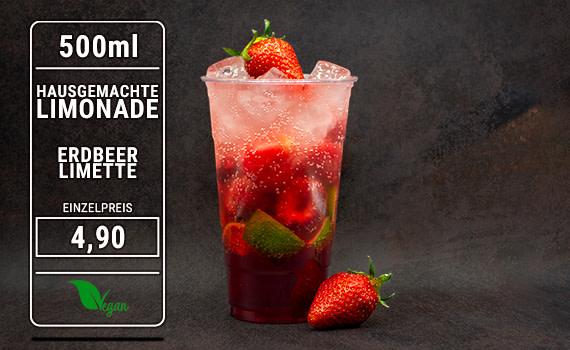 Limonade Erdbeer Limette